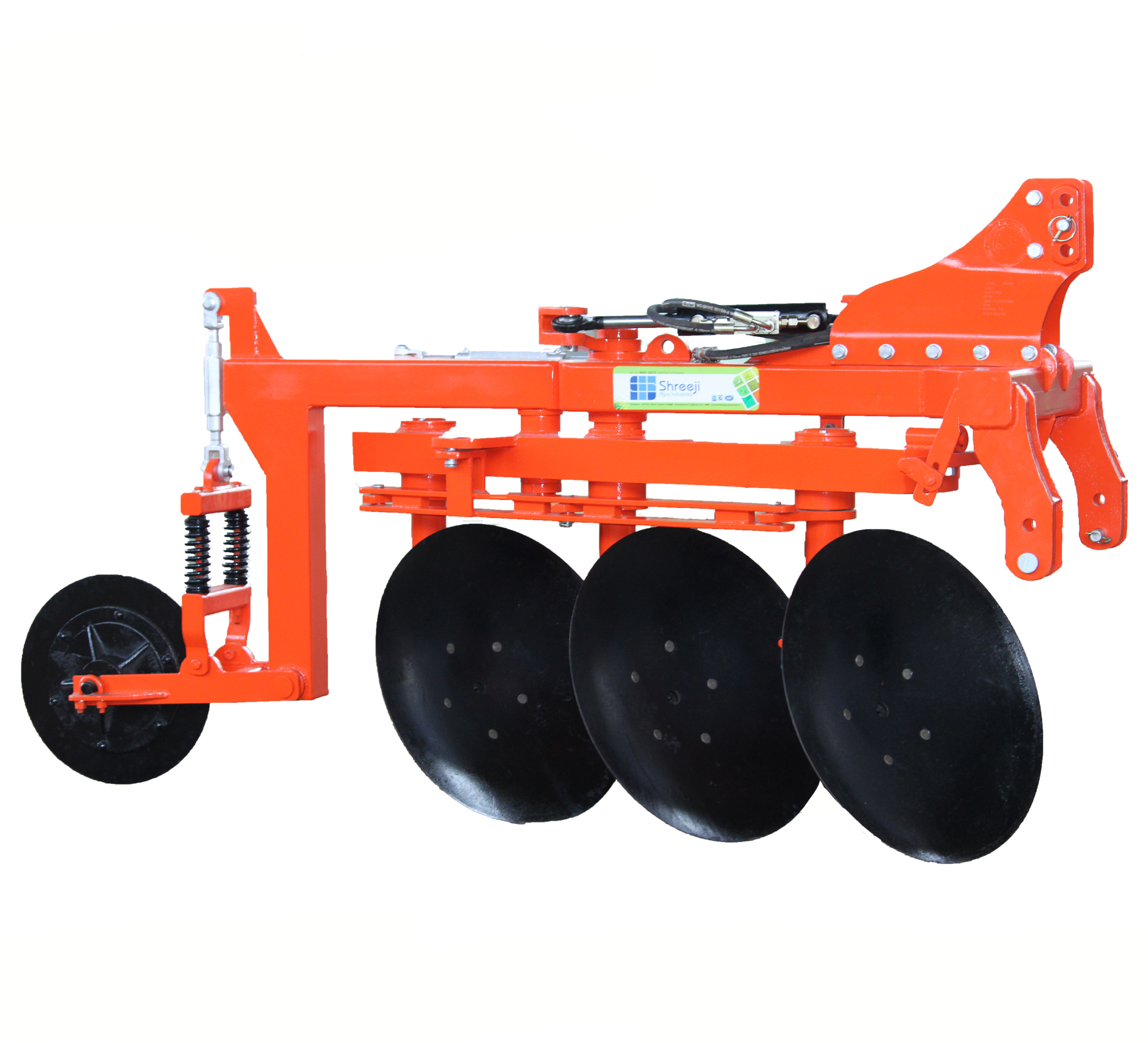 3 Bottom Hydraulic Reversible Disk Plough